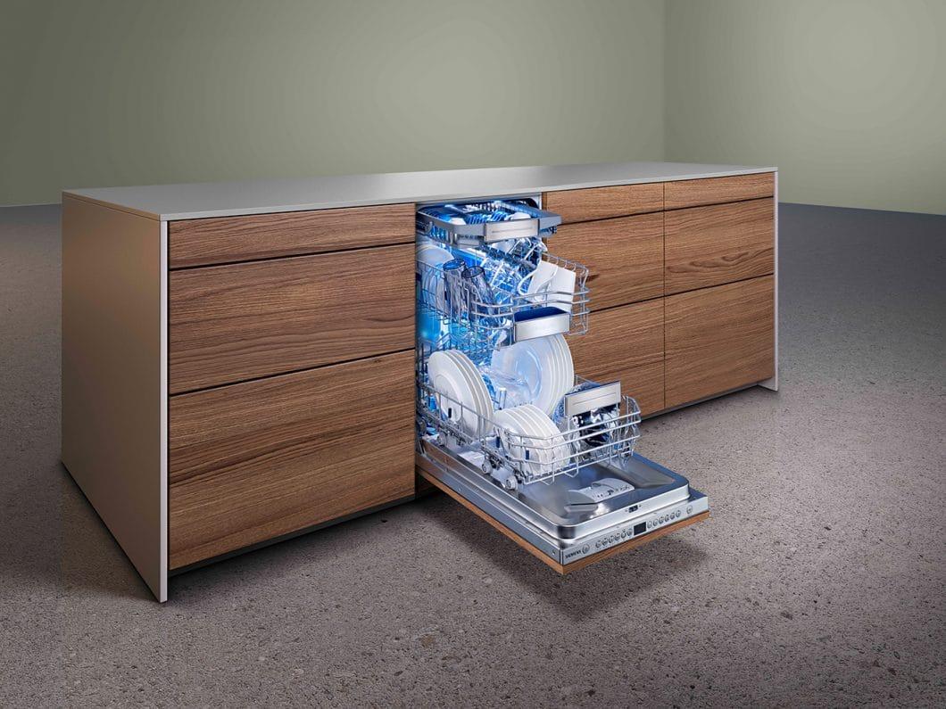 Hochwertig, langlebig und absolut zuverlässig: Siemens Geschirrspüler sorgen für perfekte Trocknungsergebnisse dank des Einsatzes von Zeolith®. (Foto: Siemens Hausgeräte)