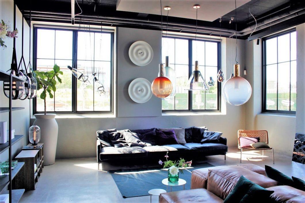 Skandinavisches Design ist minimalistisch, kreativ - und farbenfroh, wie der Showroom des dänischen Labels anker & co zeigt. (Foto: Susanne Scheffer)
