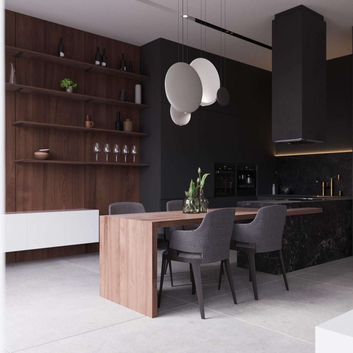 Dunkle Esszimmer - KüchenDesignMagazin - Lassen Sie sich inspirieren.