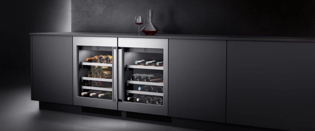 Die Weinklimaschränke der Serie 200 können auch in kleinerer Ausführung erworben werden. Sie passen sich als Unterbau perfekt einer Küchenzeile an und lagern zwischen 34 und 80 Flaschen hochprofessionell. (Foto: Gaggenau)