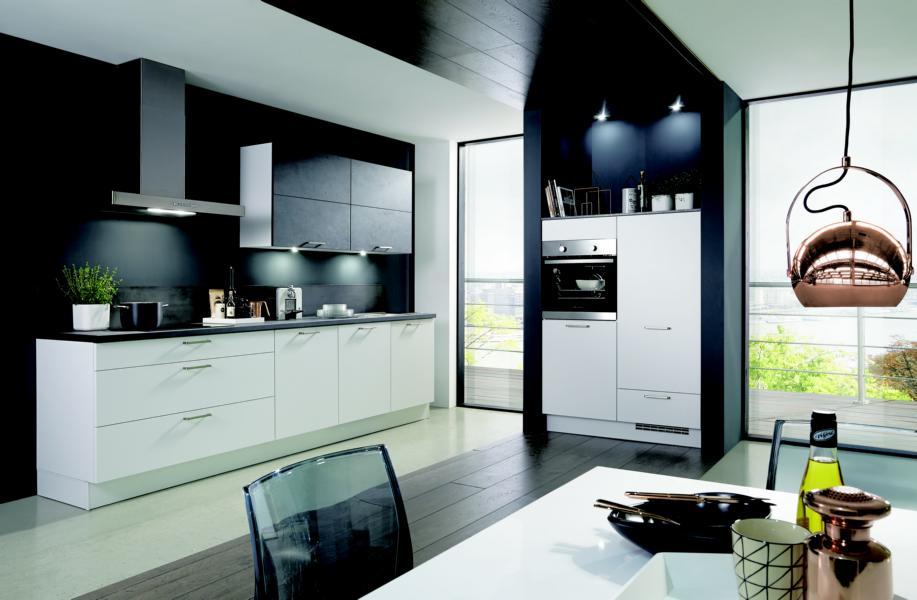 High End-Küche in Schwarz/Weiß - KüchenDesignMagazin-Lassen ...