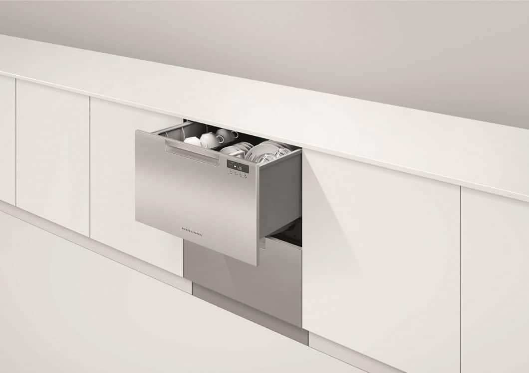 Eine Schublade als Geschirrspüler? Ja! Der DishDrawer Double macht es möglich. (Foto: Fisher & Paykel)