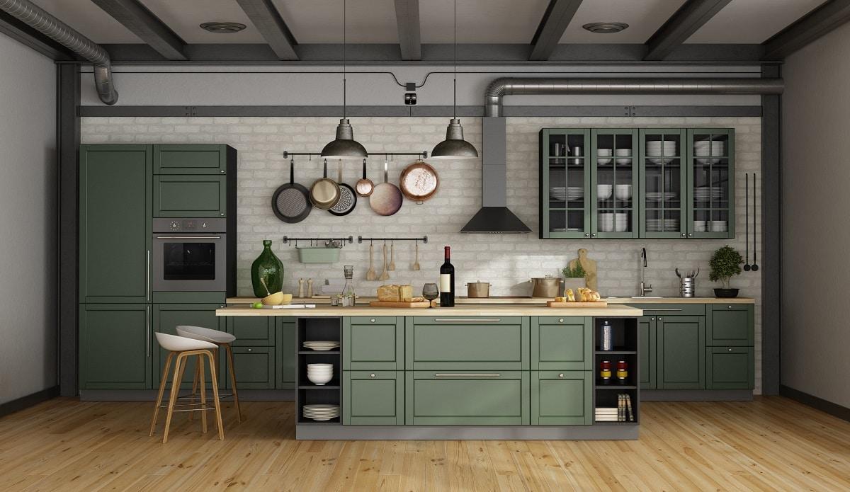 grüne küchen - küchendesignmagazin-lassen sie sich inspirieren