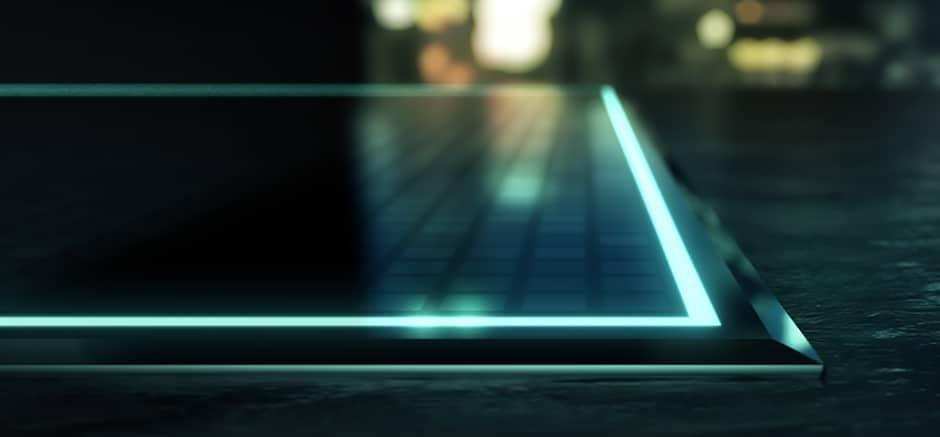 Nicht nur funktional, sondern auch atmosphärisch können LEDs das Kochfeld künftig beeinflussen. Sie ersetzen Designelemente im angeschalteten Zustand - und lassen ausgeschaltet ein puristisch schwarzes Kochfeld zurück. (Foto: SCHOTT)
