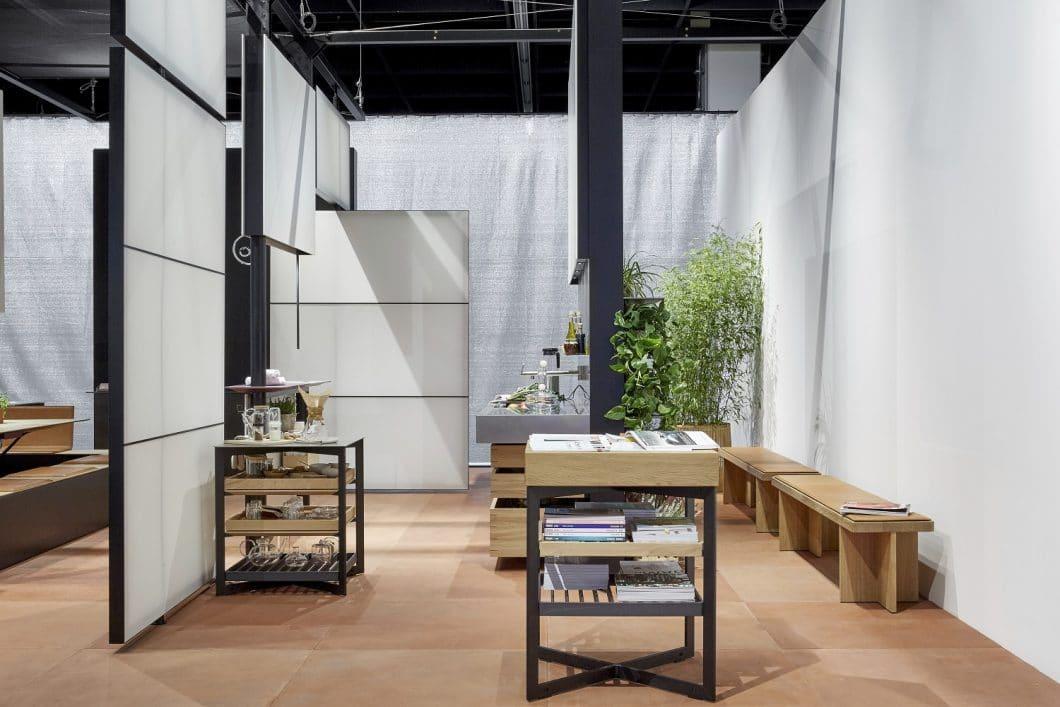 Die bulthaup b Solitaires-Möbel dienen als Ergänzung der b.architecture im Office und sollen Ruhezonen auskleiden, in denen Mitarbeiter entspannen und sich austauschen können. (Foto: bulthaup)