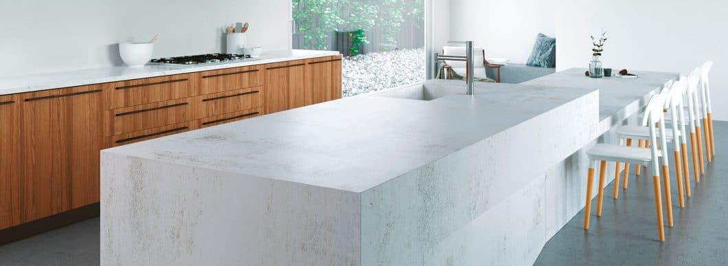 Dekton-Arbeitsplatten zählen zu den widerstandsfähigsten Oberflächen, die derzeit auf dem Küchenmarkt zu finden sind. (Foto: Cosentino)