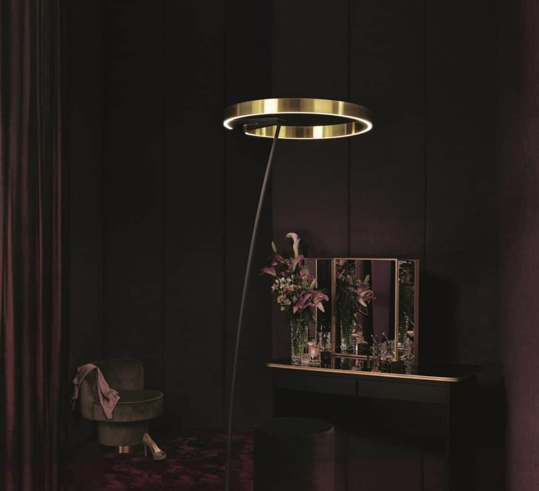 """Ein """"Heiligenschein"""" aus Aluminium, der nach oben und unten kegelförmiges Licht ausstrahlt. (Foto: Occhio)"""