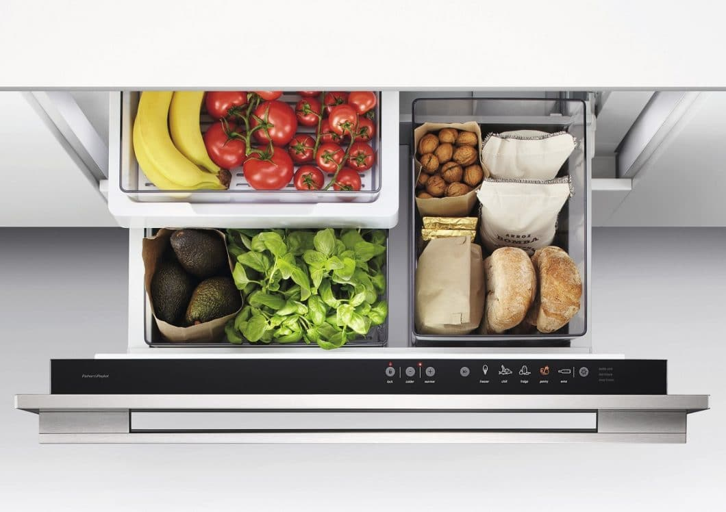 Der CoolDrawer™ von Fisher & Paykel ist eine Kühlschublade, die in 5 verschiedenen Modi nutzbar ist und sich auch zum Gefrierschrank umfunktionieren lässt. (Foto: Fisher & Paykel)