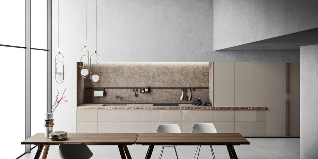 Die Besonderheit der Valcucine Genius Loci? Eine als Blende getarnte Schublade, die mit ihrer besonderen Gestaltung zum zentralen Designobjekt in der Küche wird. (Foto: Valcucine)