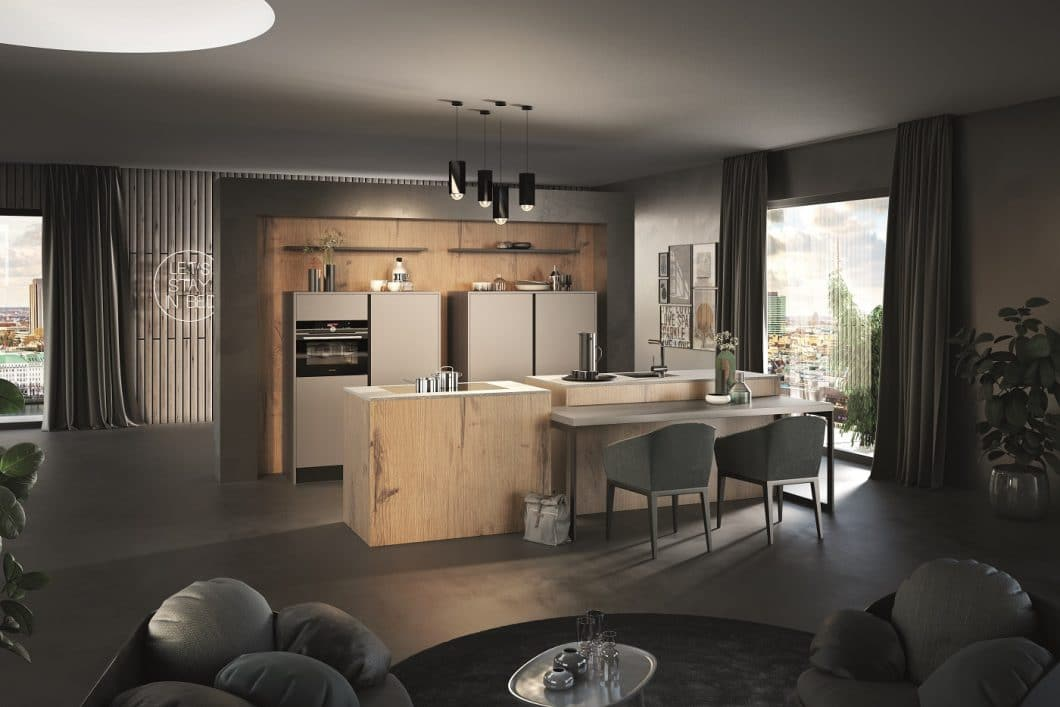 """Das Unternehmen Rotpunkt bietet schon rund 85% aller Küchen in gleichbleibend guter Bioboard-Qualität an. Mit der """"Greenline""""-Kollektion können rund 38% an Echtholz eingespart werden - und überdies Wasser und Strom in der Produktion. (Foto: Rotpunkt Küchen)"""