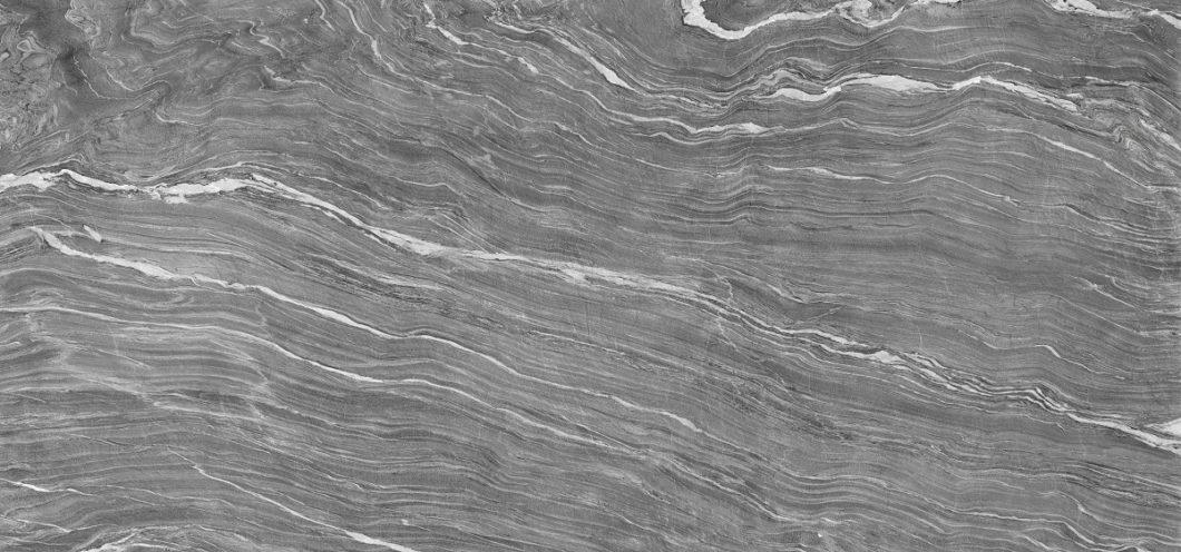 """""""Mar Del Plata"""", das silberne Meer, ist eine täuschend echte Schiefernachbildung mit heller Masur auf dunkelgrauem Untergrund. (Foto: TheSize)"""