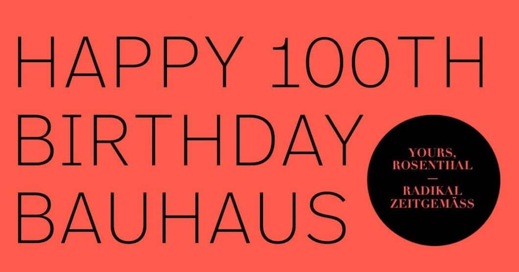 100 Jahre Bauhaus: die Porzellanmanufaktur Rosenthal feiert dies mit zwei neuen Geschirrkollektionen und einer persönlichen Ausstellung zu Ehren Walter Gropius'. (Foto: Rosenthal)