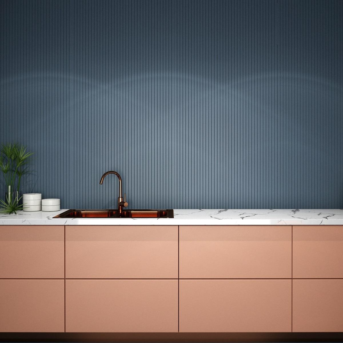 Besonders elegant wirkt das Zusammenspiel von Kupfer und Marmor. (Foto: Stock Adobe/TATTA)
