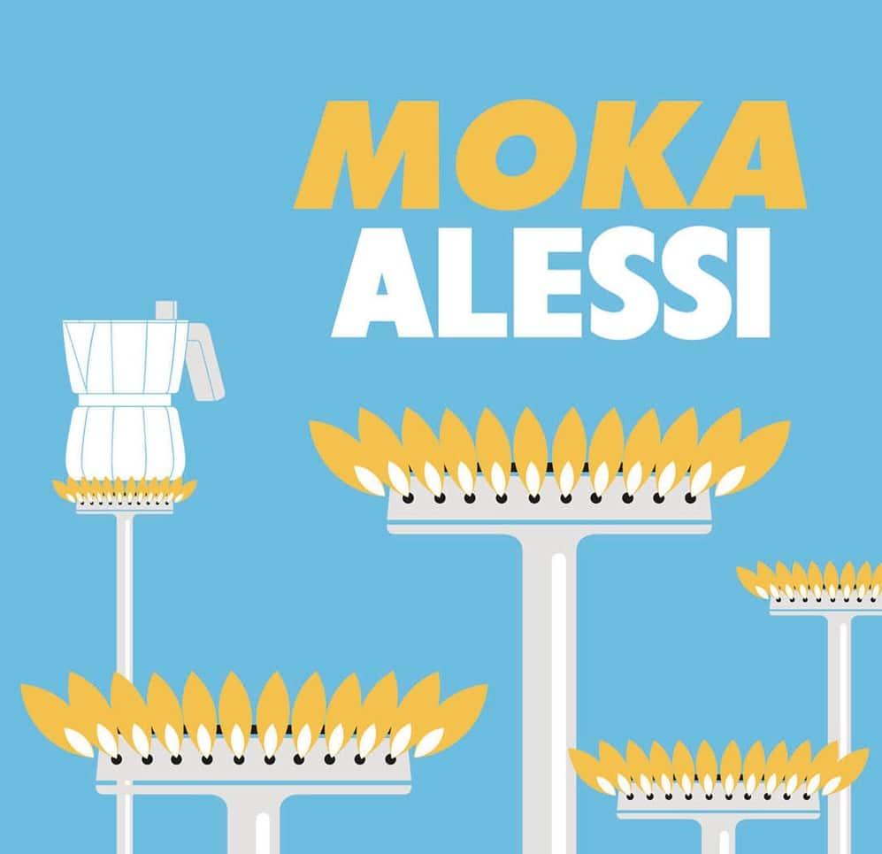 Alessi und der charakteristische Moka-Kocher, das gehört für viele Italiener - und auch Kaffeegenießer weltweit - seit den 1930er Jahren fest zusammen. (Foto: Alessi)