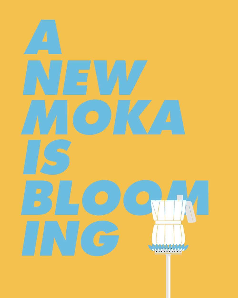 """Unter dem Motto """"A new moka is blooming"""" präsentiert Alessi das 2019 Chipperfield-Design auf der Mailänder Designmesse sowie in einer dazu beigesteuerten Ausstellung inkl. Film. (Foto: Alessi)"""