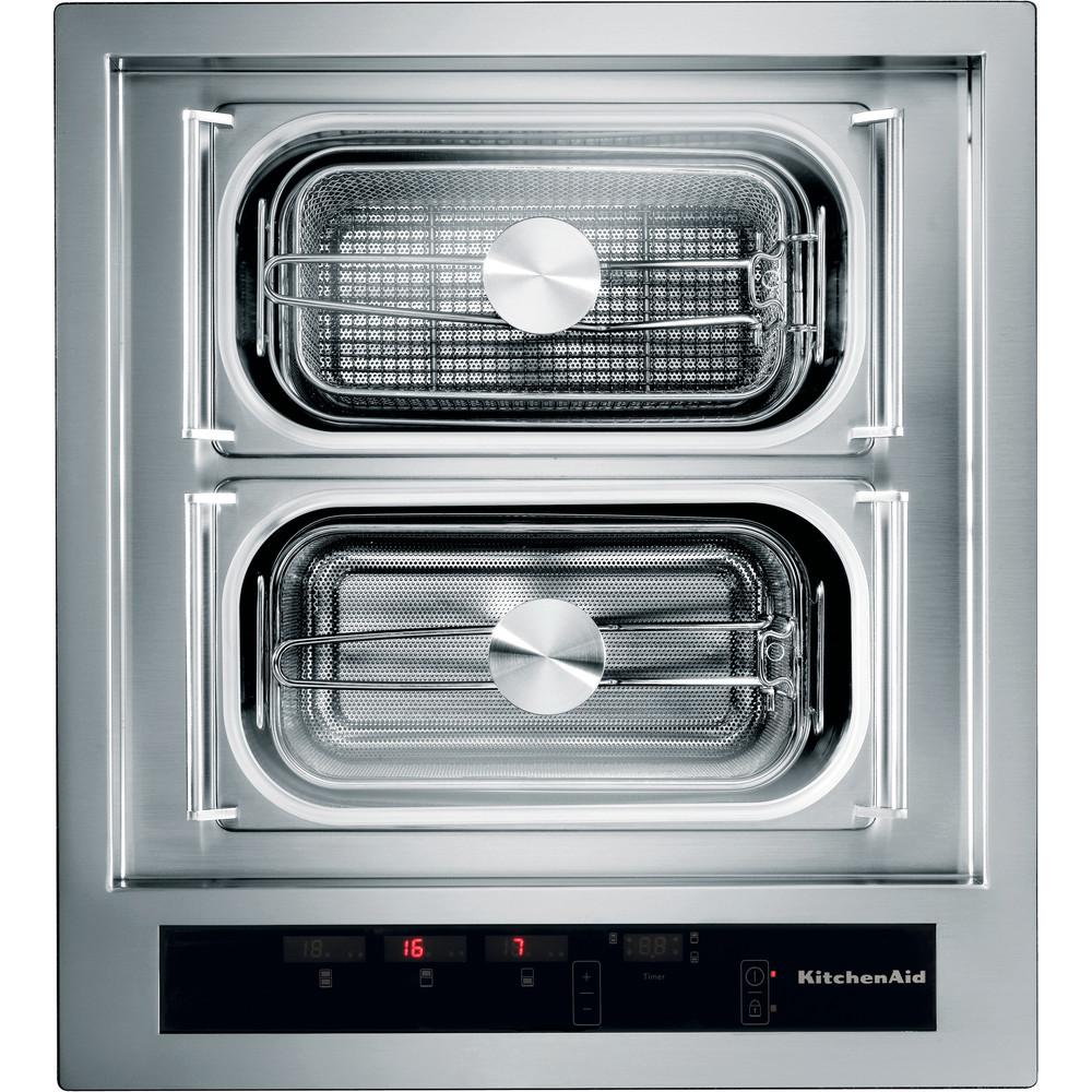 Ein professionelles Design aus Edelstahl und fünf verschiedene Zubereitungsmodi: das Chef Sign-Kochmodul von KitchenAid ist eine semi-professionelle, funktionale Ergänzung im Haushalt. (Foto: KitchenAid)