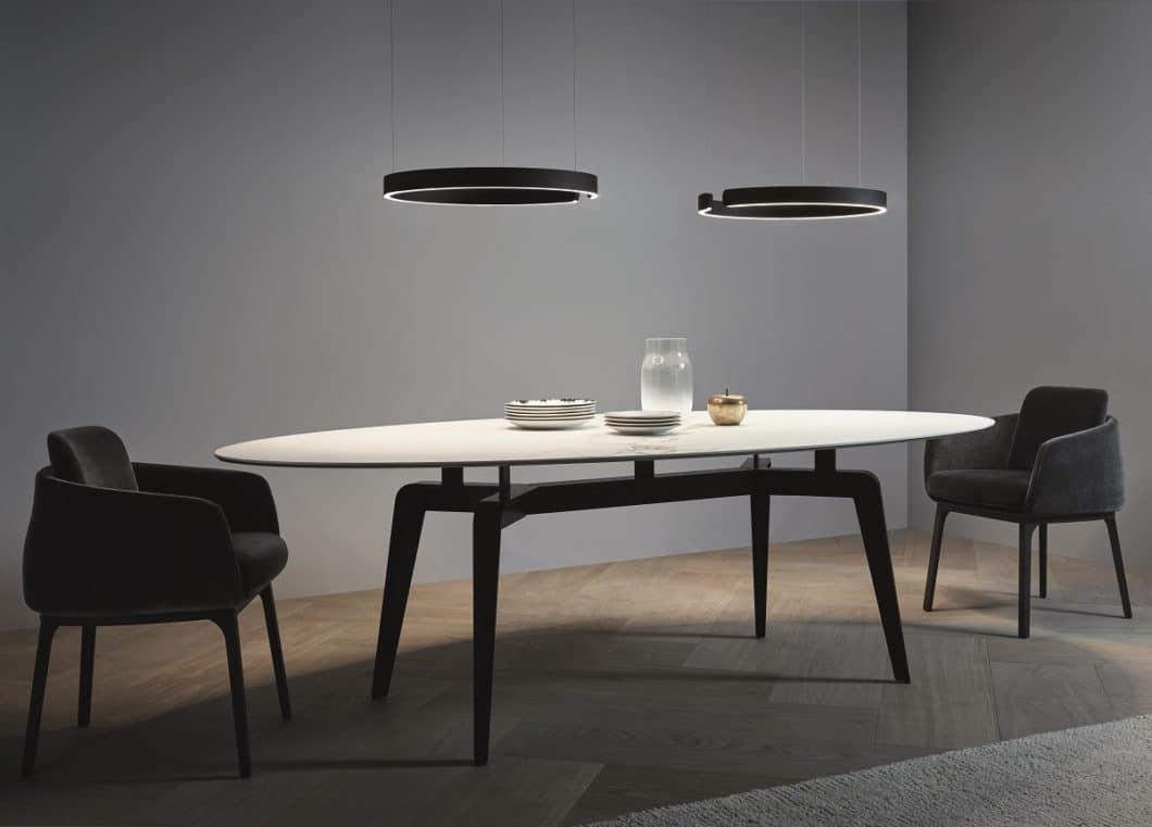Sinnlich, elegant und hochfunktional: die Mito-Kollektion von Occhio stehen stellvertretend für luxuriöse Leuchten in der Küche. (Foto: Occhio)
