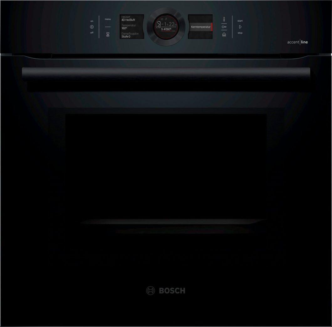 KI kann schon jetzt Back- und Garvorgänge im Ofenraum überwachen. Bald weiß der Sensor-Backofen von Bosch alles über Vorlieben des Nutzers und kann Rezepte und Garzeiten vorhersagen. (Foto: Bosch)