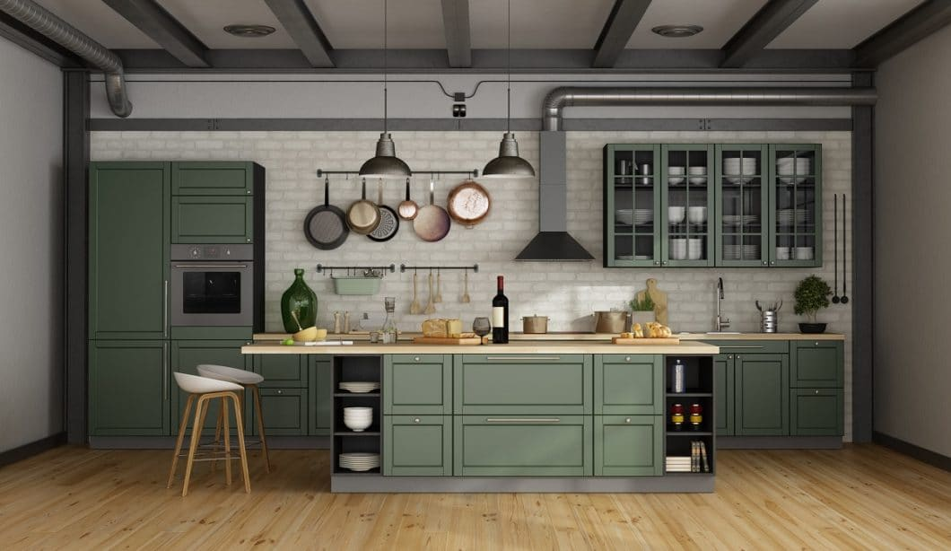 What we would like to take with us from 2019: the return to wooden kitchens, metal elements and the color black in the kitchen room. What was less nice: traditional manufacturers who struggle. (Photo: stock)