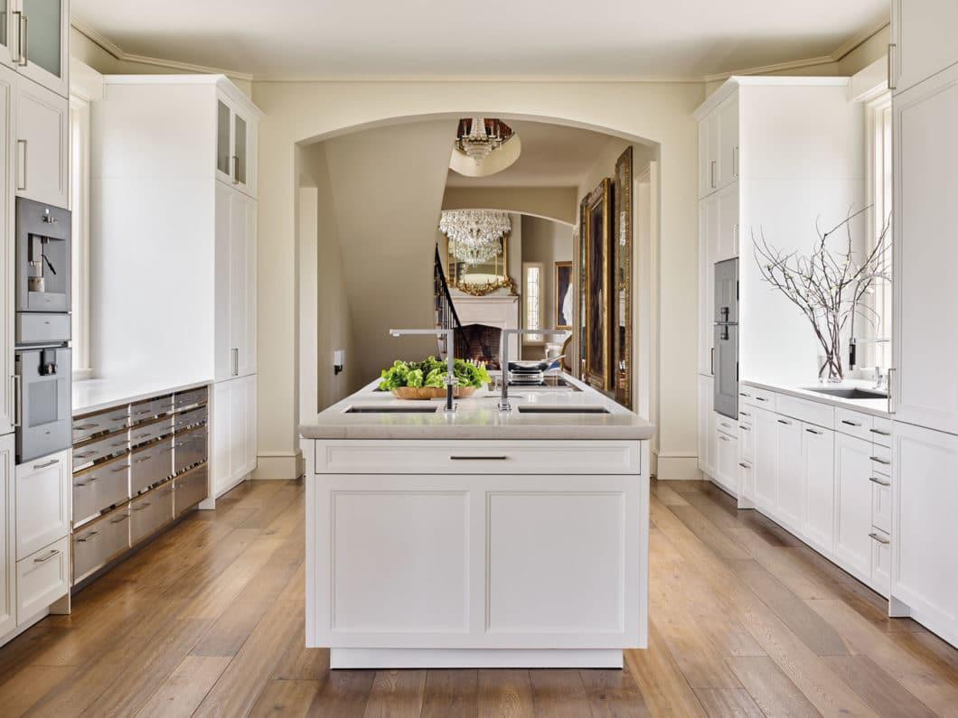 """Klassizistischer Chic im großen amerikanischen Stil: für diesen Küchenentwurf einer SieMatic CLASSIC erhielt ein Planer aus Amerika den """"Best of CLASSIC""""-Award. (Foto: SieMatic)"""