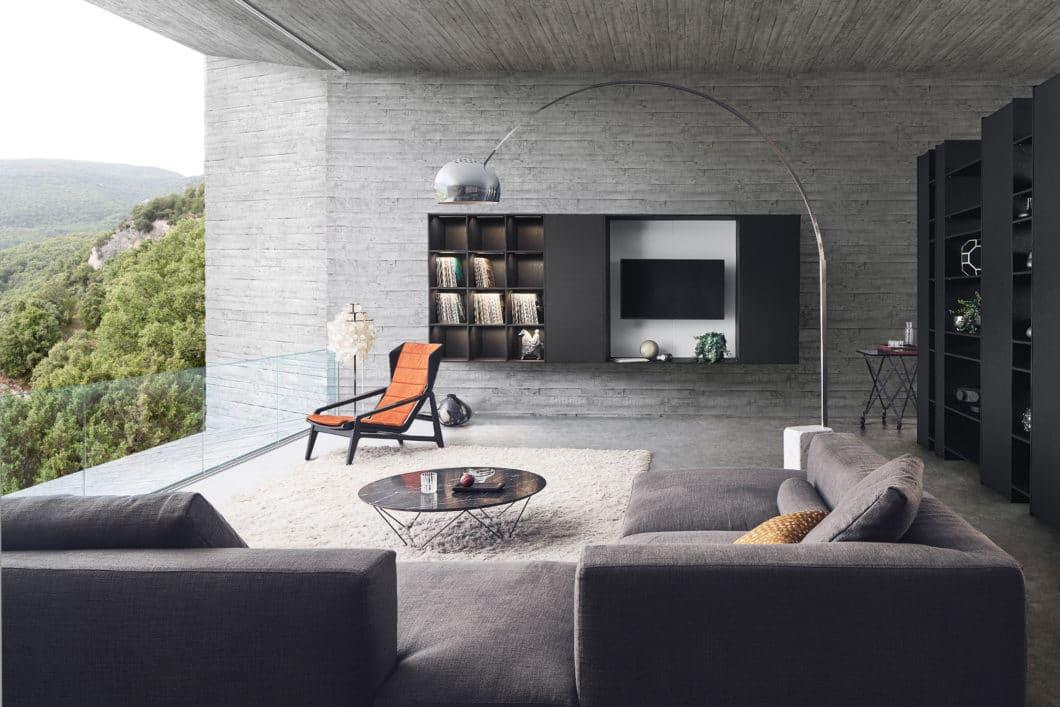 Das könnte aus dem Katalog eines hochwertigen Wohnmöbelherstellers stammen. Tatsächlich gehört es aber zur neuen LEICHT-Kollektion 2020. (Foto: LEICHT)