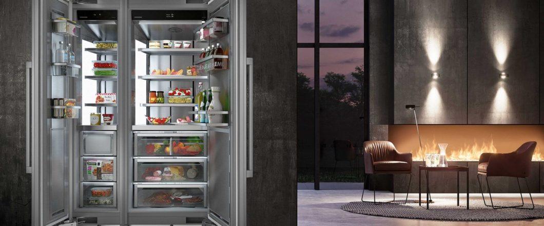 Der Monolith von Liebherr zählt zu den größten Kühlschränken des deutschsprachigen Markts. Seine edle Ausstattung umfasst auch ein besonders hochwertiges Außendesign in Holz oder Metall. (Foto: Liebherr)