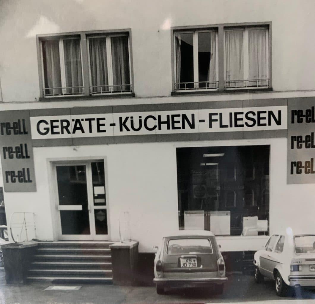 Wie alles begann: 1975 machte sich Helmut Maage mit dem Küchenstudio re-ell in Gießen selbständig. (Foto: privat)