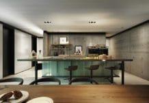 Außergewöhnlich ist diese LEICHT-Küche allemal. Beim näheren Hinsehen entpuppt sich der futuristische Entwurf allerdings aus bekannten LEICHT-Elementen. (Foto: LEICHT/ Qimin Wu)