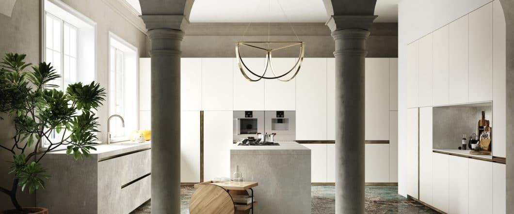 Ein Hauch von aristokratischer Eleganz: Küchenfronten und Arbeitsplatten in Marmor-Optik bringen zeitlose Schönheit in jeden Küchenraum. (Foto: SapienStone)