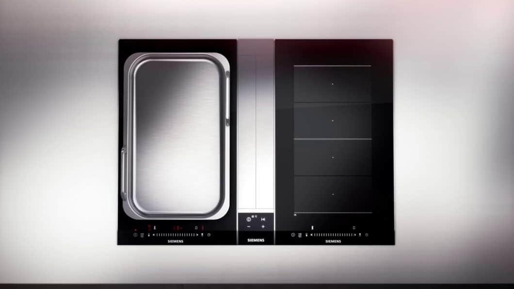 Während Siemens und Bosch Hausgeräte bislang verstärkt auf modulare Teppanyaki (mit Griffen) setzen, haben andere Firmen wie BORA oder Gaggenau längst die luxuriöse Lust am professionellen Kochen entdeckt. (Foto: Siemens Hausgeräte)