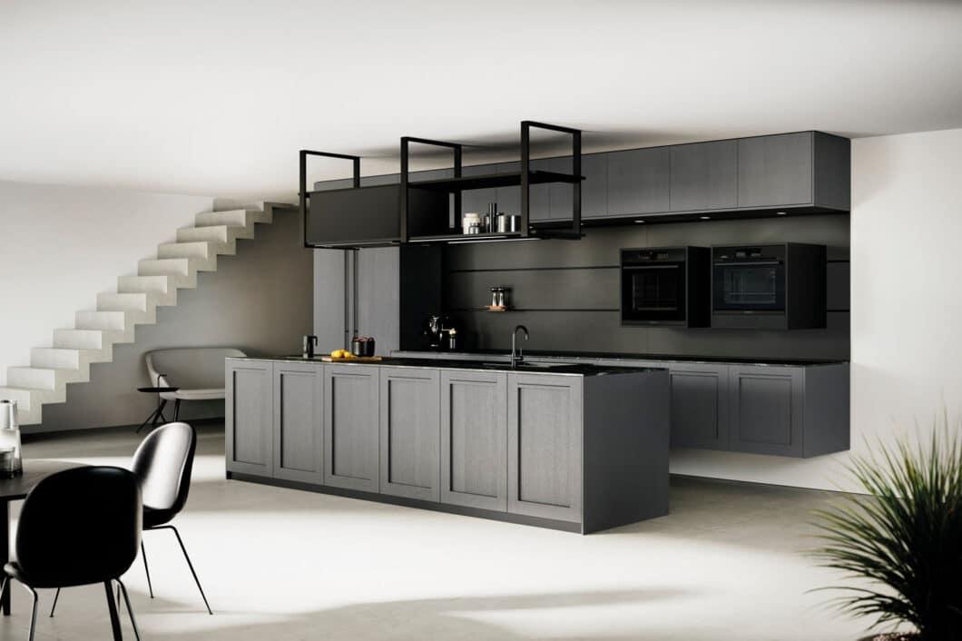 """Landhaus minimalistisch interpretiert: Die neue Kassettenfront """"Comfort"""" ist eine moderne Neuinterpretation des nach wie vor beliebten Landhausstils. (Foto: Rotpunkt)"""