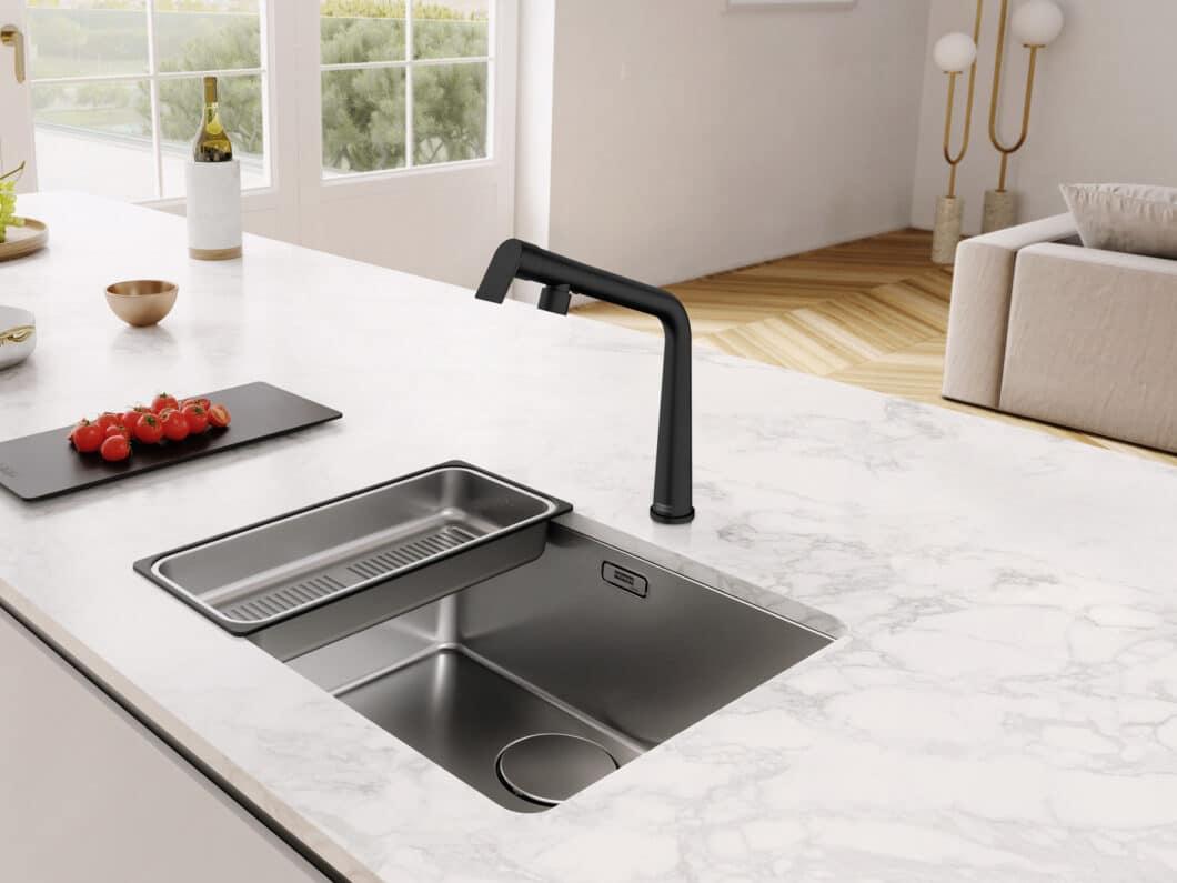 """Der Name ist Programm: Die Armatur """"Icon"""" aus den Franke-Neuheiten 2021 hat durchaus das Zeug zum ikonischen Designobjekt in der Küche. (Foto: Franke GmbH)"""