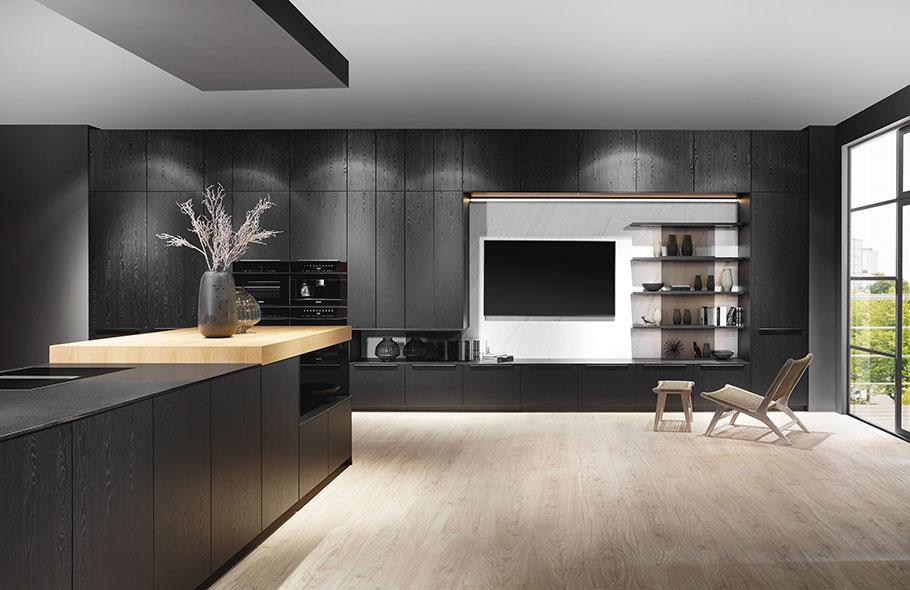 Große und kleine Schubladen, durchgängige Fronten oder clever unterteilte Auszüge: das individuelle Rastermaß ermöglicht Küchenkäufern eine Planung bis ins Detail. (Foto: nobilia)