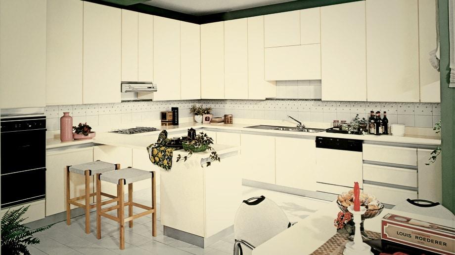 Schon früh orientierte sich Scavolini an puristischem Küchendesign - hier ein Modell von 1975. (Foto: Scavolini)