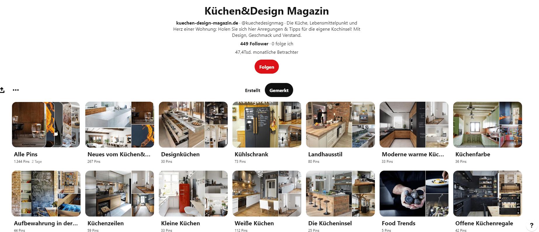 """Inspiration ist alles: bevor Sie anfangen, Ihre Küche mit dem Studio zu planen, sollten Sie ein Moodboard zusammenstellen mit Stilen, Accessoires, """"Must Haves"""" und """"Can Haves"""". Eine große Auswahl an Pins bietet z.B. das Küchen&Design Magazin auf Pinterest. (Foto: Küchen&Design Magazin)"""