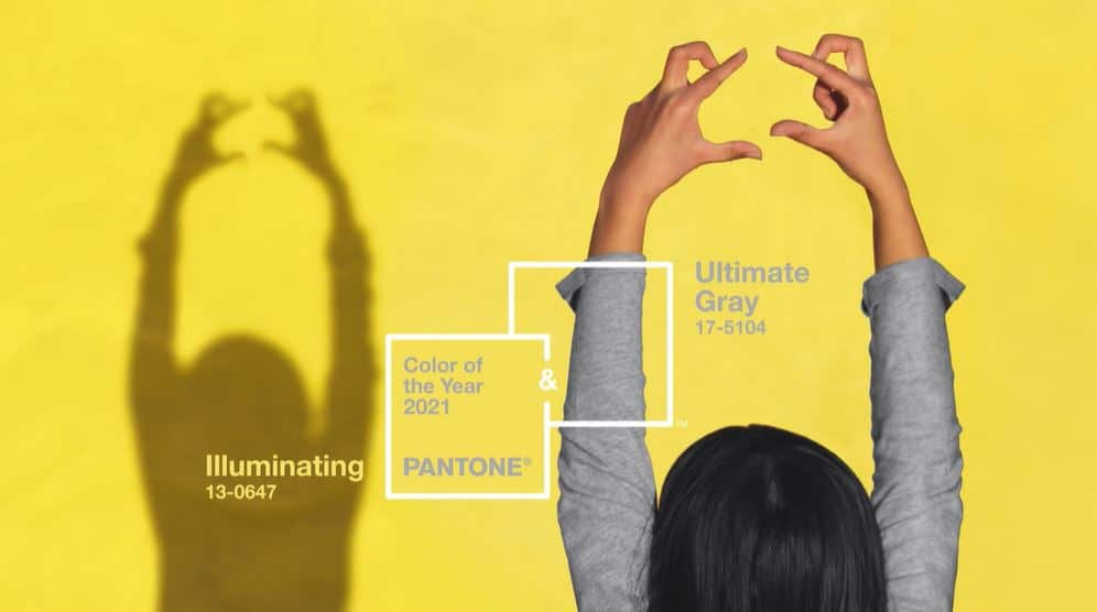 """Die Farbe des Jahres 2021 wird traditionell vom PANTONE Color Institute gewählt. Dieses Mal wurden gleich 2 Farben ernannt: """"Ultimate Grey"""" und """"Illuminating"""". (Foto: Pantone)"""