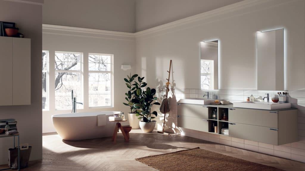 Scavolini hat sich, wie seine deutschen Mitbewerber, ebenfalls den Räumen Wohnen und Bad geöffnet - mit ästhetischem Erfolg. (Foto: Scavolini)