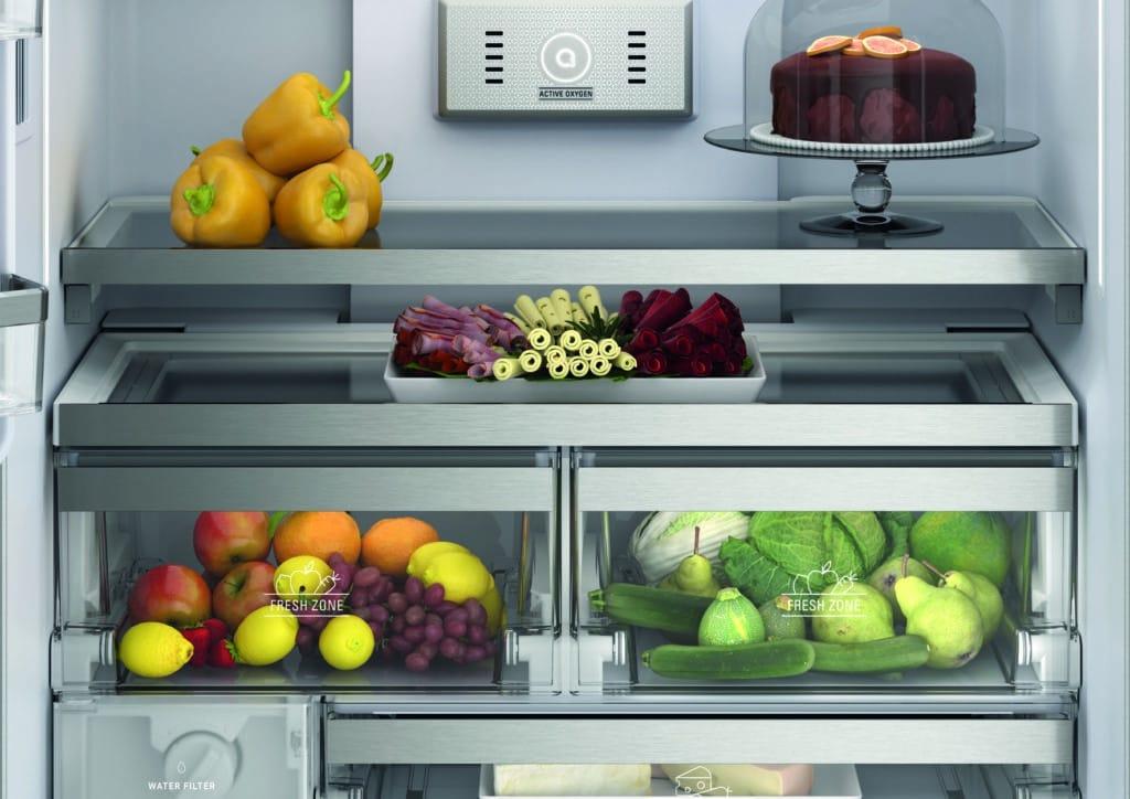 """Mit den """"Fresh Zones"""" bleiben auch empfindliche Lebensmittel wie Obst und Gemüse bis zu 15x länger frisch, verspricht Bauknecht. (Foto: Bauknecht)"""