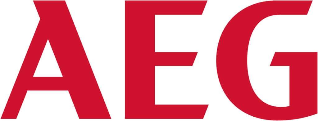 Die drei roten Buchstaben des Logos in Antiqua-Schrift genießen einen enorm hohen Bekanntheitsgrad. (Foto: AEG)