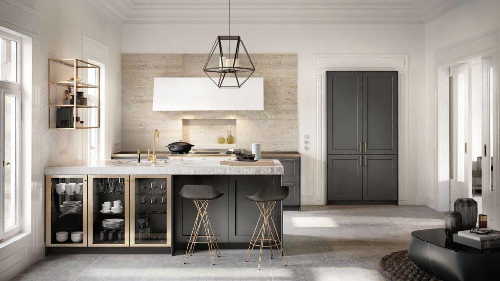 Wände und Böden sowie Lichteinfall und Accessoires spielen eine ganz erhebliche Rolle, wenn es um den Stil und die Ausgestaltung eines Küchenraums geht. (Foto: SieMatic)