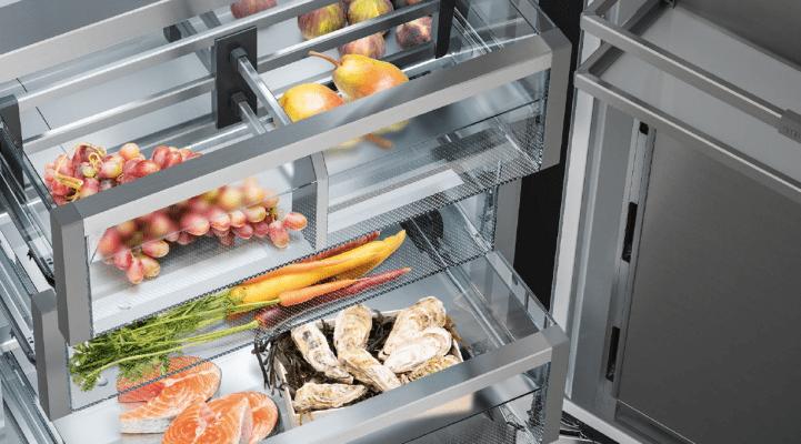 """In den """"BioFresh""""-Fächern können empfindliche Lebensmittel mit individuell abgestimmter Temperatur länger frisch und vitaminreich gehalten werden. (Foto: Liebherr)"""
