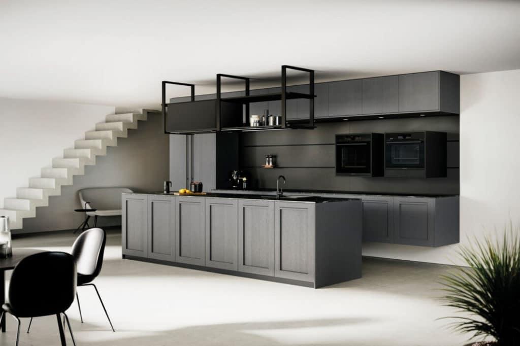 """Nachhaltige Küchen von Rotpunkt: eine moderne Interpretation der Landhausfront, hergestellt aus der ökologischen Spanplatte """"BioBoard Gen2"""". (Foto: Rotpunkt)"""