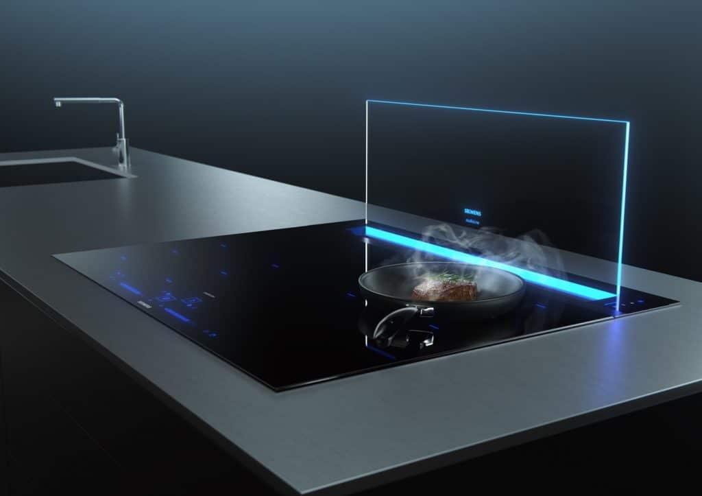 """Dank der durchdachten """"GuidedAir""""-Technologie werden Dünste und Gerüche nahezu unsichtbar - und flüsterleise - abgezogen. (Foto: Siemens Hausgeräte)"""