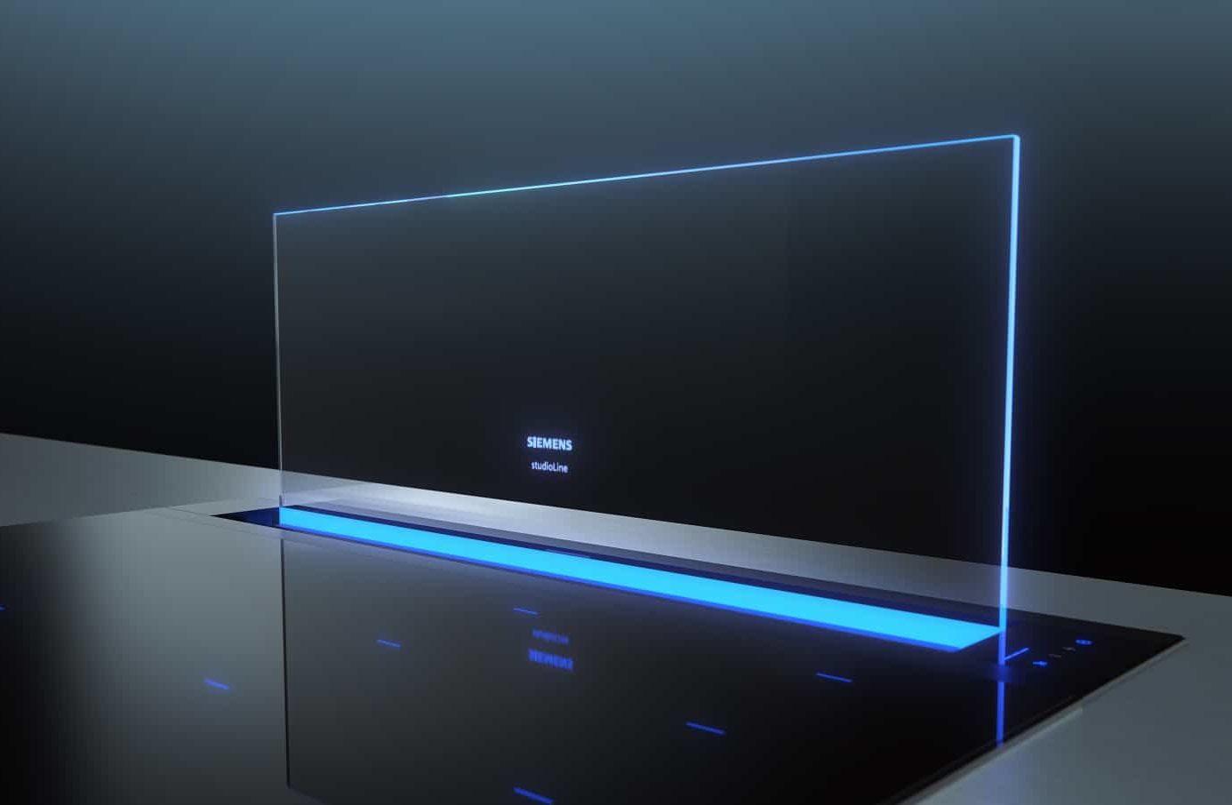 Eine weitere Lösung aus dem Hause Siemens für den Dunstabzug direkt am Kochfeld: die hochelegante glassdraftAir. (Foto: Siemens Hausgeräte)