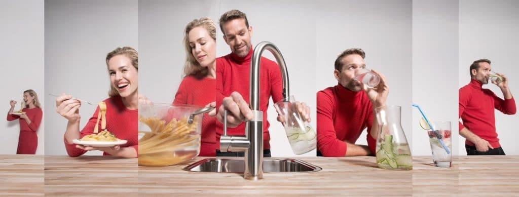 Ein Wasserhahn, der alles kann, bindet den Kunden auch mit all seinen Funktionen an sich. (Foto: Quooker)