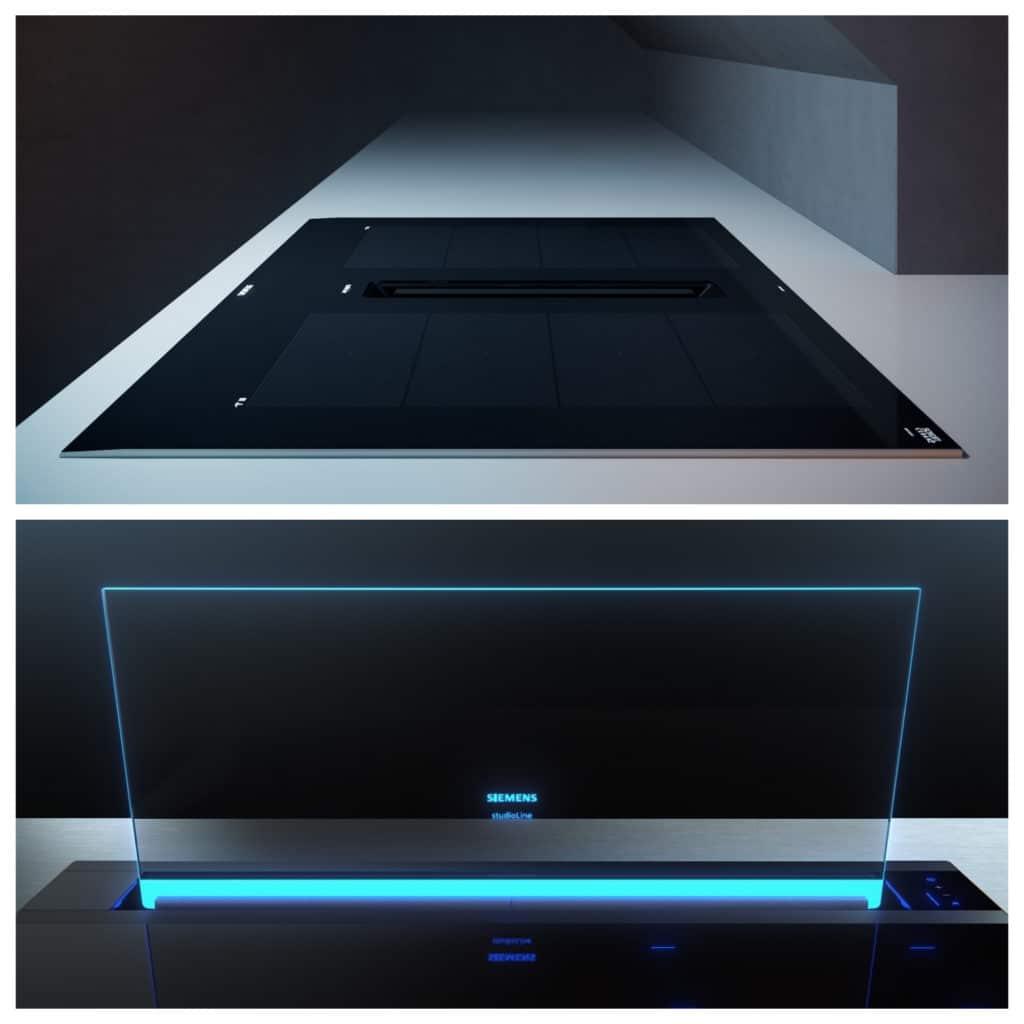 inductionAir Plus vs. glassdraftAir? Beide Kochfeld-Dunstabzüge haben ihre jeweiligen Vorteile. (Foto: Siemens Hausgeräte)