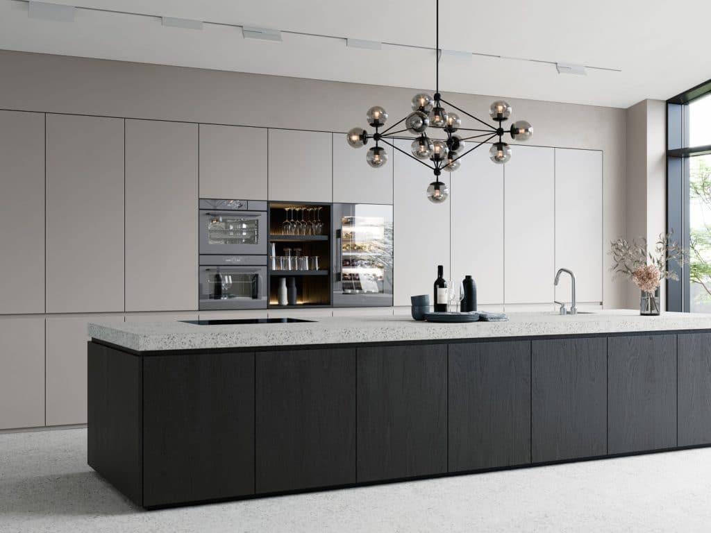 """Entgegen des """"All Black""""-Trends lassen sich andere Backöfen, so z.B. die V-ZUG Excellence Line, neben einer schwarzen Version auch z.B. in Platinum erwerben. Das passt hervorragend zu helleren Küchen. (Foto: V-ZUG)"""
