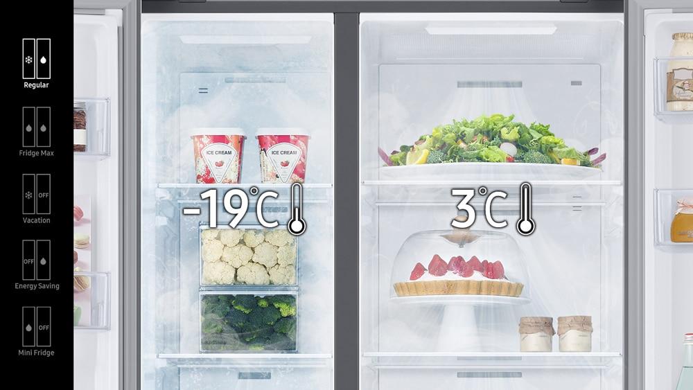 """Mehr Platz im Kühlschrank und eine präzise Temperaturkontrolle versprechen die """"Bespoke""""-Modelle von Samsung. (Foto: Samsung)"""