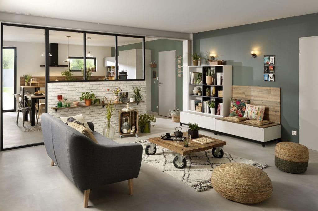 Nachhaltige Küche: Auch Wohnmöbel sind mit SCHMIDT Küchen planbar. (Foto: SCHMIDT Küchen)