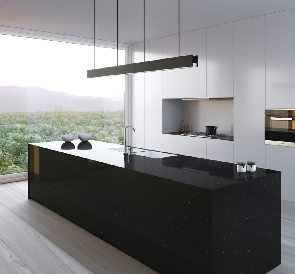 Höchst elegant: der Quarzkomposit Silestone macht eine gute Figur in der Küche. (Foto: Cosentino)